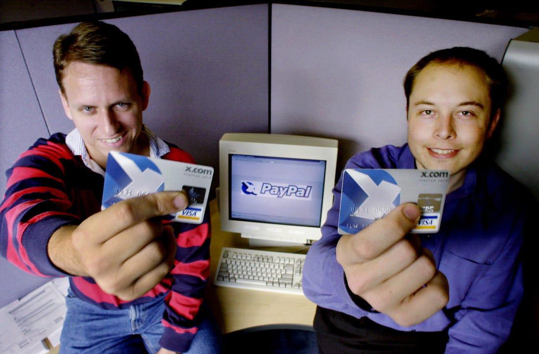 A X.com e o PayPal - Crédito: Associated Press