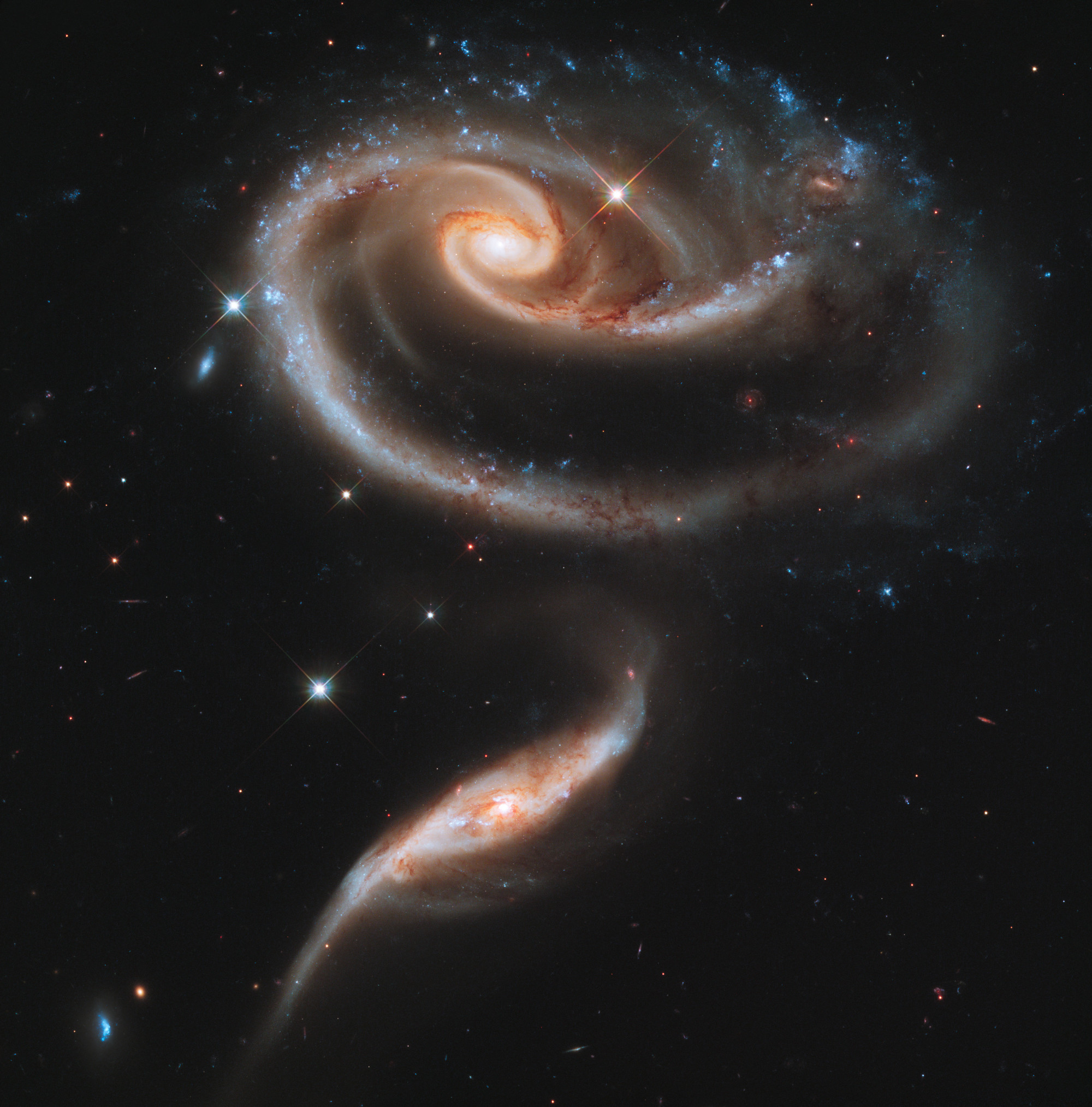 Collision of Galaxies.