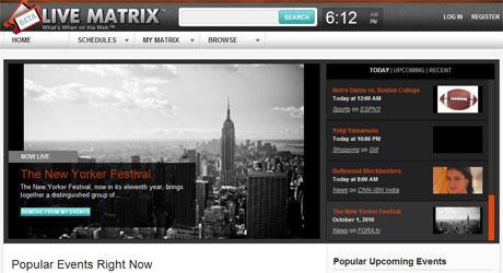 Live Matrix: um site que reúne vários eventos ao vivo na internet
