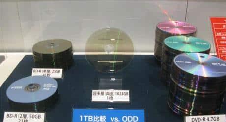 Empresa desenvolve disco ótico de 1 TB