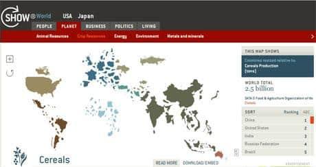 Um mapa-múndi diferente, que varia de acordo com informações de cada país