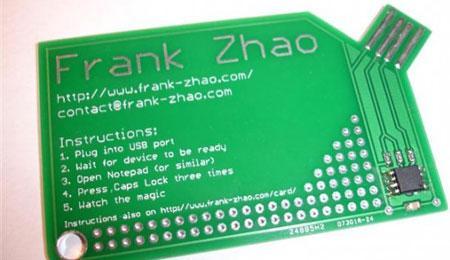 Cartão de visitas USB: já viu?