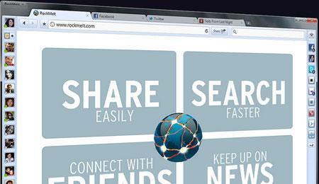 RockMelt: novo navegador permite total integração com Facebook, Google e Twitter