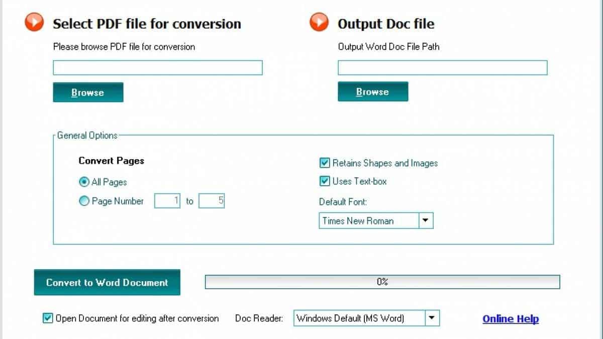 converter online arquivo de pdf para word