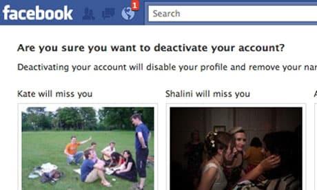 Deletar conta Facebook