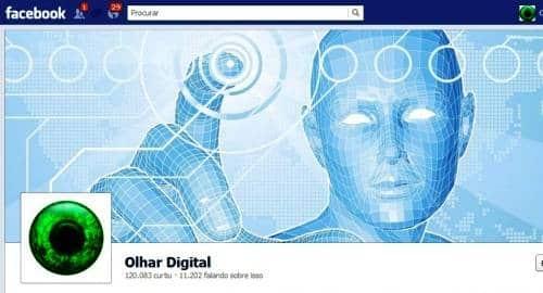 Timeline Facebook Olhar Digital