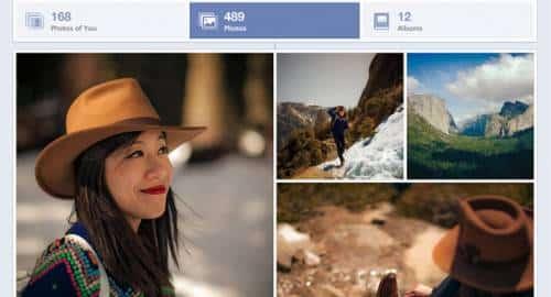 Novo visualizador de fotos do Facebook