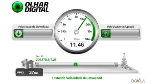 Teste a velocidade da sua internet aqui no Olhar Digital