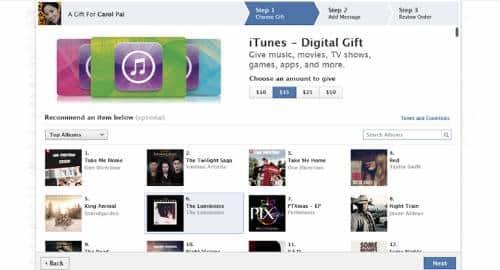 Facebook e iTunes