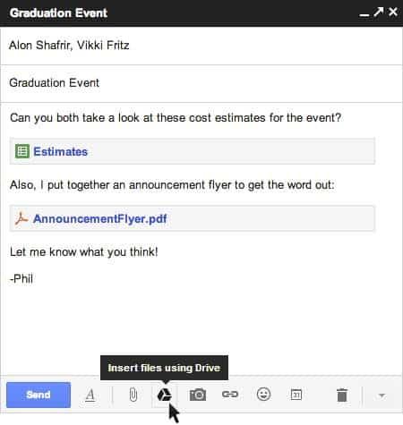 Integração do Gmail ao Drive