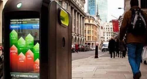 Lixeiras em Londres