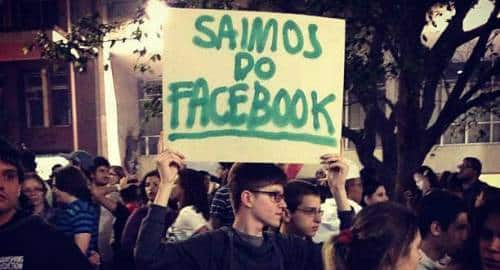 Saímos do Facebook
