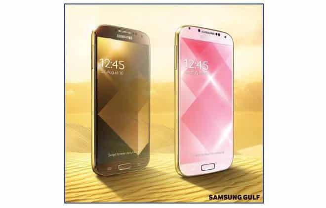 Samsung apresenta Galaxy S4 dourado