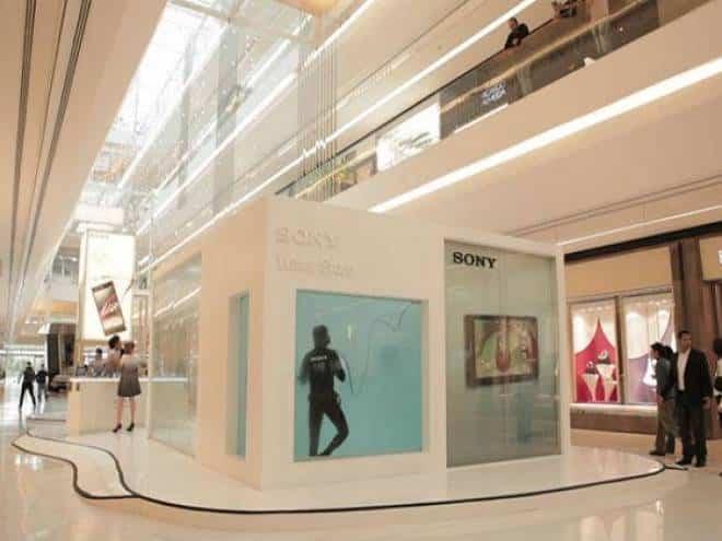 Sony monta loja aquática em São Paulo
