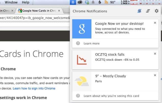 Google libera o Google Now para o Chrome no Windows e Mac