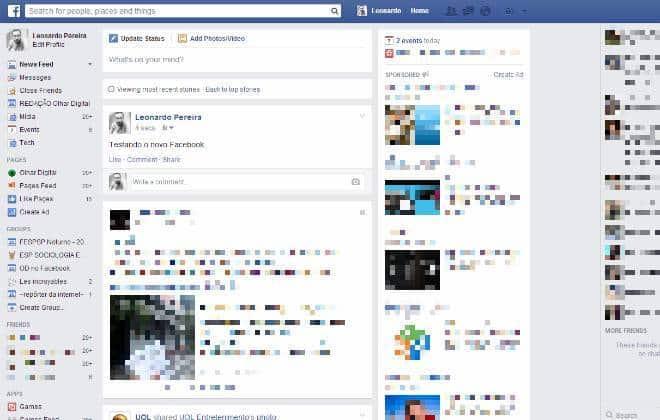 Fuçamos: novo layout deixa Facebook mais agradável