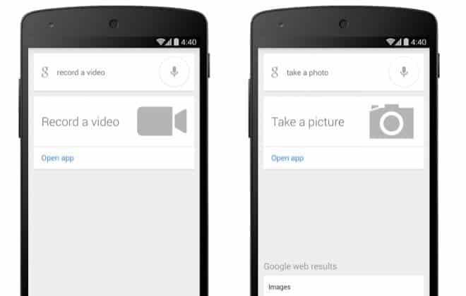 Donos de celulares com Android podem comandar câmera pela voz