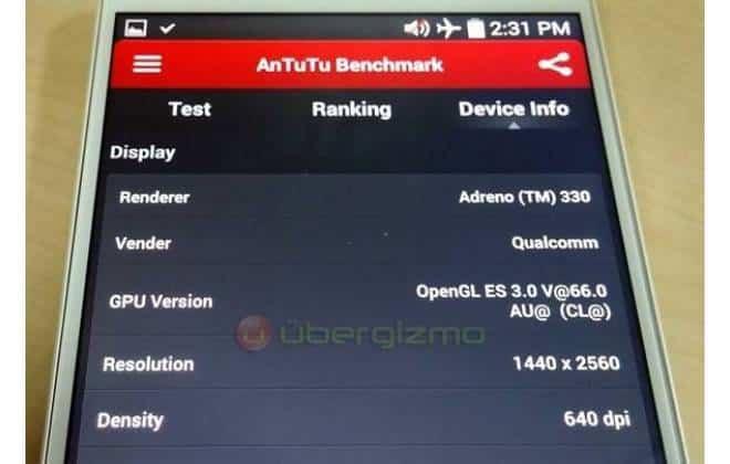 Vazamento mostra smartphone LG com tela de 2560x1440