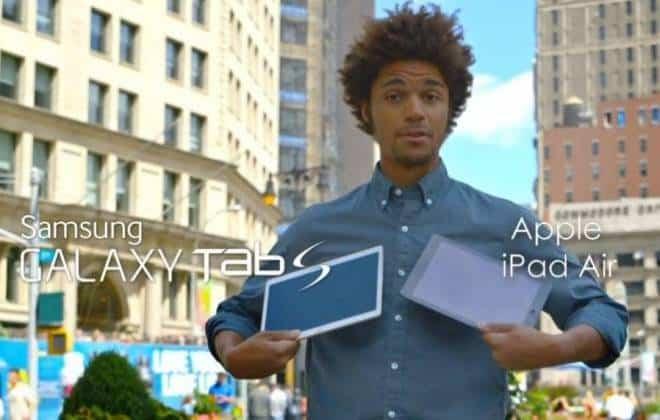 Samsung ataca iPad Air em novo comercial do Galaxy Tab S