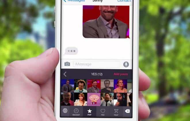 iPhone terá teclado só de GIFs