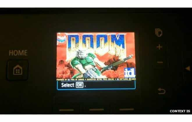 Hacker roda game Doom em impressora