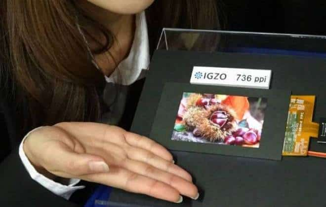 Sharp mostra tela de smartphone com altíssima resolução