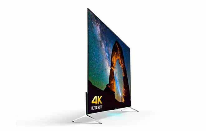 Novas TVs 4K da Sony têm apenas 4,9 mm de espessura