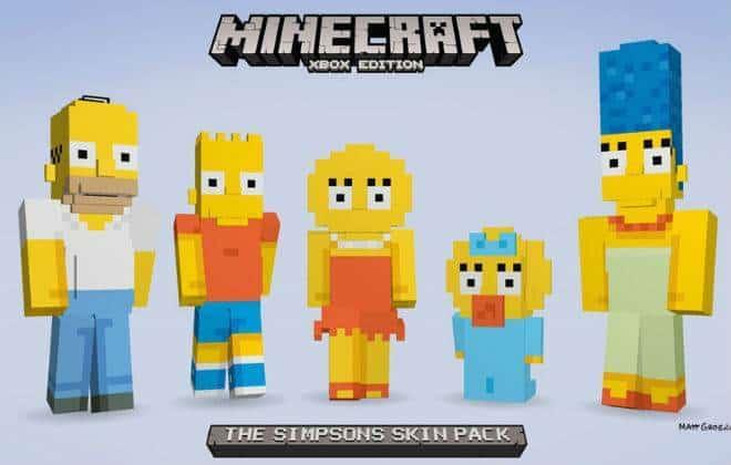 """Minecraft para Xbox vai ganhar pacote de """"Os Simpsons"""""""