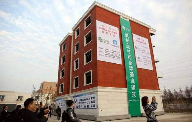 Chineses constroem o 1º prédio com impressora 3D