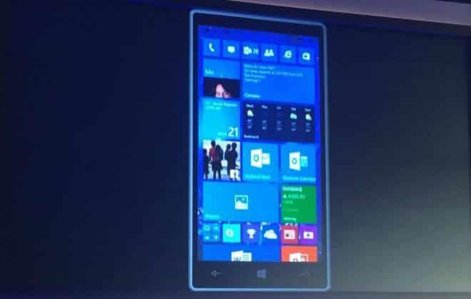 Surgem as primeiras capturas de tela do Windows 10 para celulares