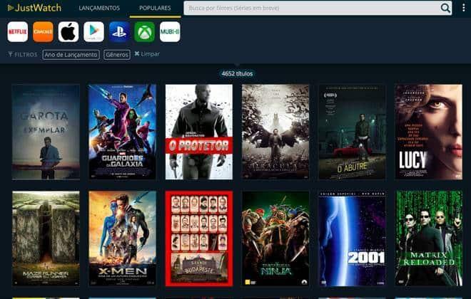 Novo buscador encontra filmes em serviços de streaming