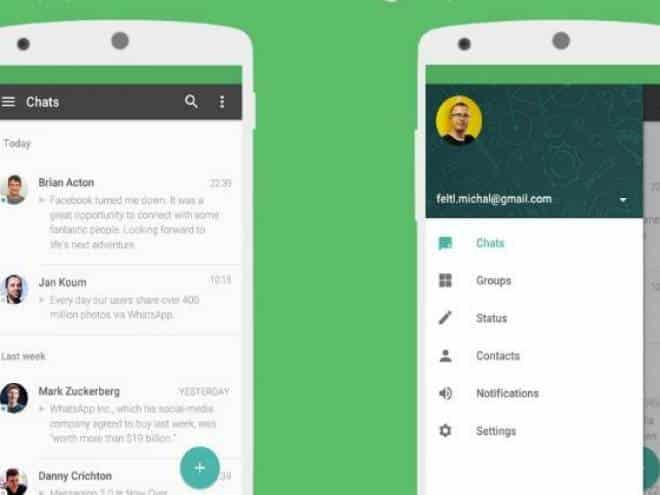 Atualização deixa WhatsApp de cara nova no Android