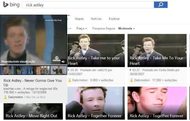 Busca de vídeos no Bing é mais completa que a do YouTube
