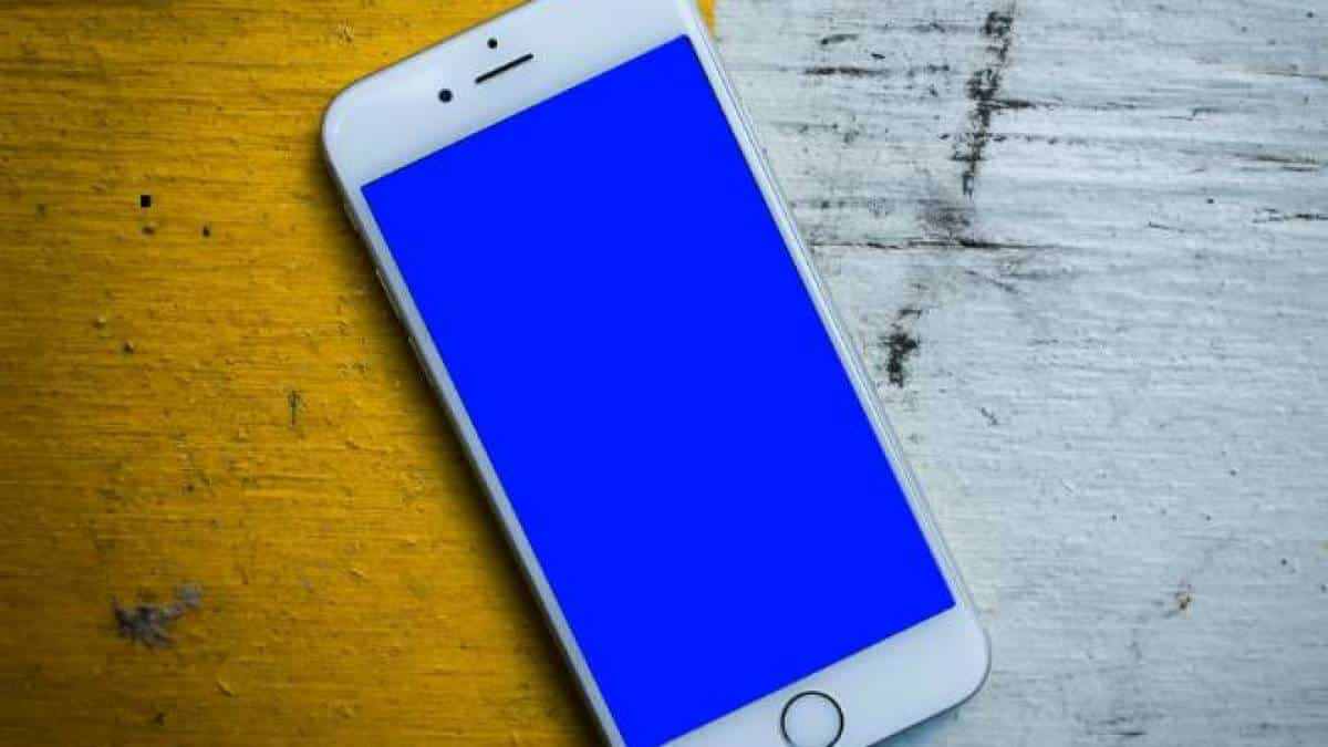 iphone 6 tela azul