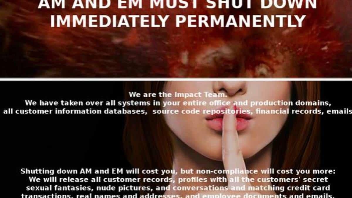 f7e163766 Hackers ameaçam vazar dados de 37 milhões de usuários de site de traição