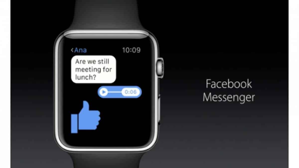 Facebook Messenger Apple Watch