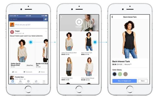 Facebook cria seção inteiramente voltada para compras