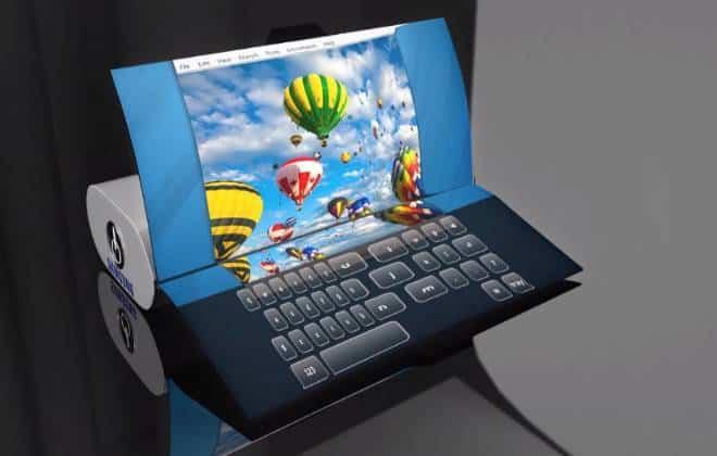Samsung registra patente de notebook dobrável