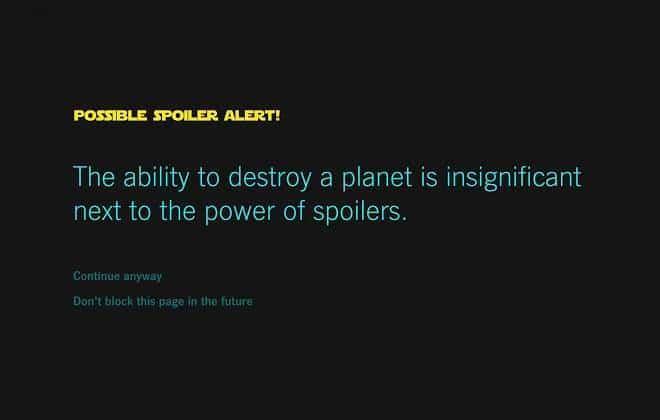 Saiba como bloquear spoilers sobre o novo Star Wars