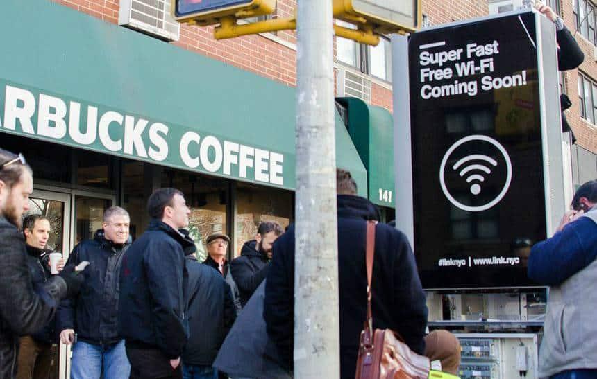 Nova York começa a instalar cabines de Wi-Fi público com internet Gigabit