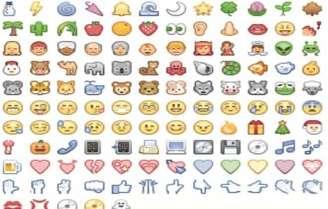 how to put emoticons on facebook