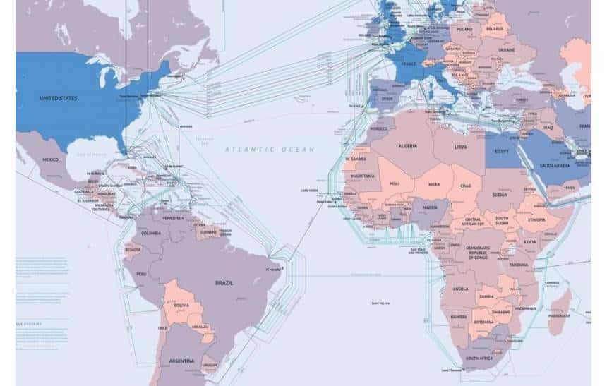 Microsoft e Facebook preparam o mais r�pido cabo transatl�ntico