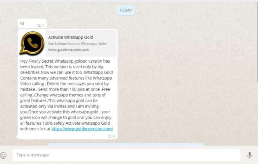 N�o caia no golpe: WhatsApp Gold n�o existe