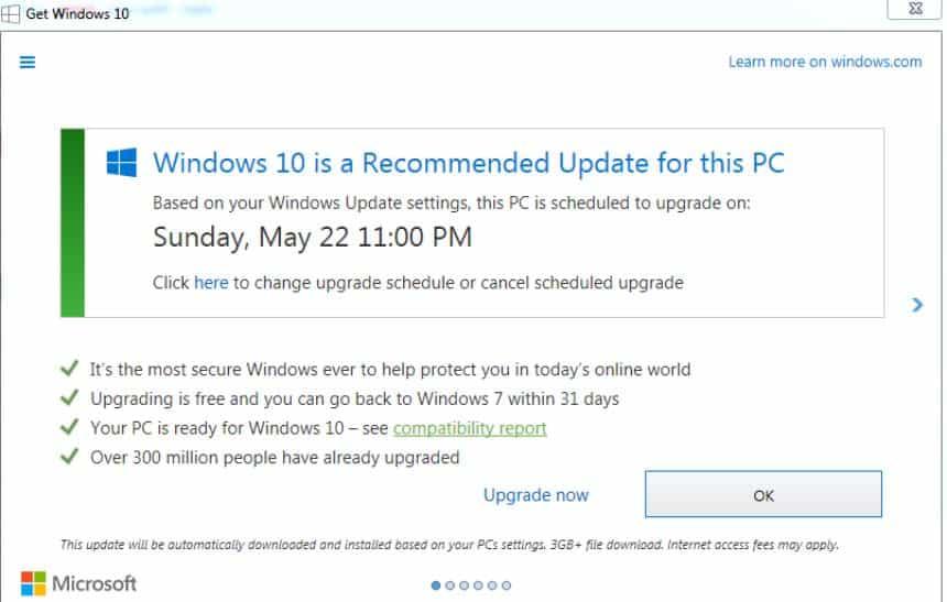 N�o caia no 'truque sujo' da Microsoft para atualizar seu PC para Windows 10