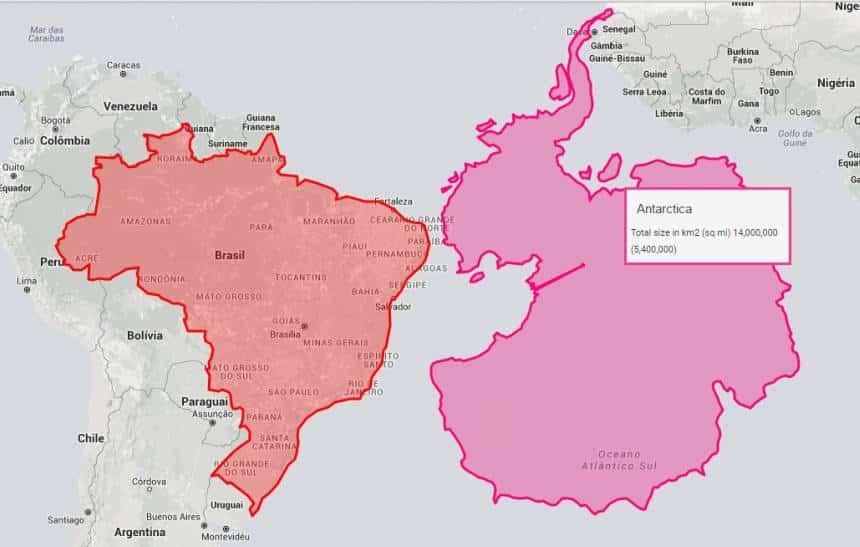 Aplicativo mostra como os mapas mais comuns do mundo estão errados