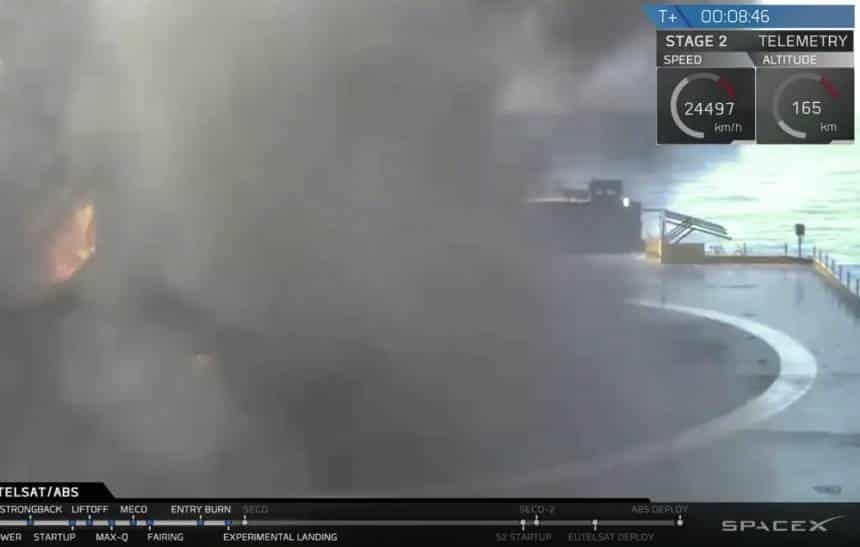 Veja o vídeo do foguete da SpaceX explodindo durante o pouso