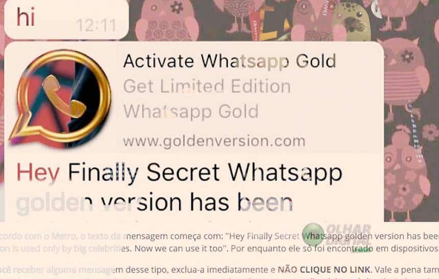 Fique esperto: dicas para voc� n�o cair em golpes no Whatsapp
