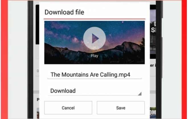 Cancel download android