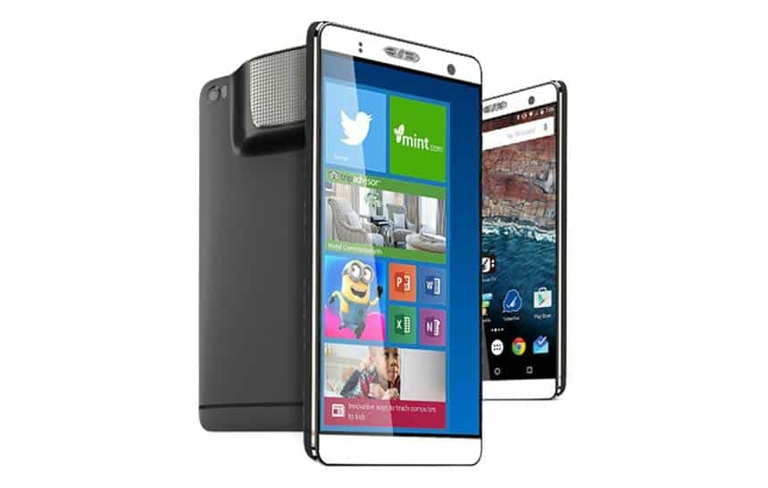 Smartphone de 7 polegadas roda Android e pode ser usado como um PC com Windows