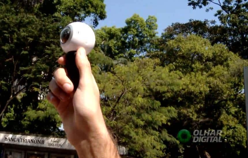 Testamos a primeira c�mera 360� da Samsung: cara, mas divertida